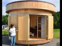 日本家具厂开发饭桶形状旋转住宅