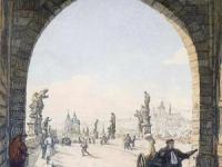 欧洲一百年前的画和如今的实景对比